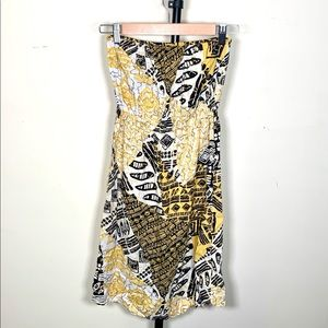 Forever 21 Tribal Print Strapless Sun Dress